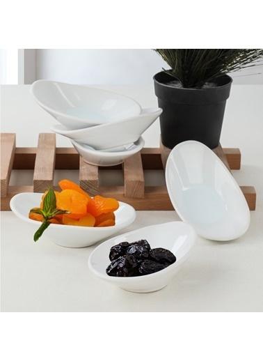 Keramika Keramika 12 cm 6 Adet Dalga Çerezlik/Sosluk Renkli